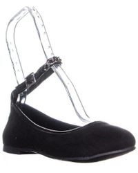 Report Kimberlyn Ankle Strap Ballet Flats - Black