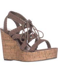 Madden Girl - Emboss Braided Wedge Sandals - Lyst