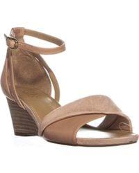 Franco Sarto - Deirdra Buckle Wedge Sandals - Lyst