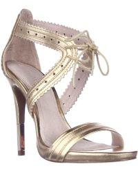 Pour La Victoire Shanna Front Tie Sandals - Gold - Metallic
