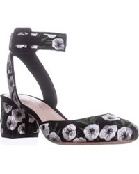 Loeffler Randall Cami Round-toe Ankle Strap Court Shoes - Black