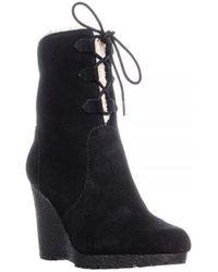 Michael Kors Michael Rory Wedge Boots - Black