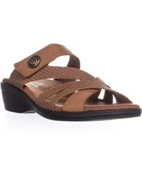 Easy Street - Feature Wedge Slide Sandals - Lyst