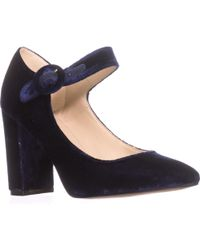 Marc Fisher Shaylie Mary Jane Heels - Blue