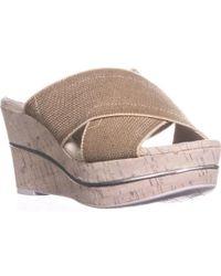 Donald J Pliner - Dani2 Wedge Slide Sandals - Lyst