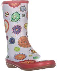 Sporto Avery Mid Calf Rain Boots - Multicolour