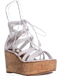 Frye - Heather Gladiator Lace Up Wedges - Lyst