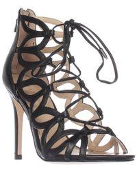 Ivanka Trump Hela Lace Up Gladiator Sandals - Black