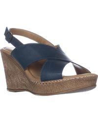 Bella Vita - Lea-italy Slingback Wedge Sandals - Lyst