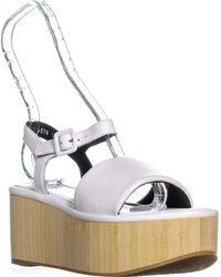 e9227e1e25a Robert Clergerie - Rober Clergerie Flap Platform Ankle Strap Sandals - Lyst