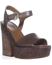 Marc Fisher Perla Platform Sandals - Green