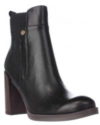 e6e526f38 Tommy Hilfiger - Britton Block Heel Ankle Boots - Lyst
