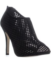 Madden Girl Renzo Perforated Zip Up Sandals - Black