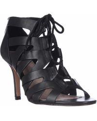 Pour La Victoire Camila Lace-up Gladiator Sandals - Black Leather