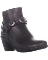 Easy Street Bailey Buckle Ankle Boots - Brown