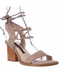 French Connection - Jalena Lace Up Ankle Strap Sandals - Lyst