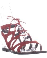 c2501aba9eb441 Sam Edelman  gemma  Caged Suede Lace-up Sandals in Purple - Lyst