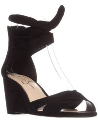 ed4db279c73e Jessica Simpson - Cyrena Ankle Strap Wedge Sandals - Lyst