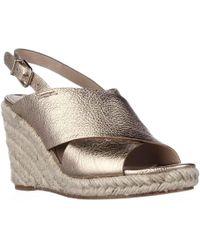 Via Spiga - Rosette Esapdrille Slingback Sandals - Gold - Lyst