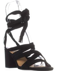 Lucky Brand - Idalina Lace-up Strappy Sandals, Black - Lyst