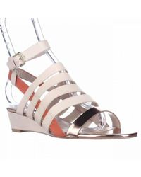 French Connection - Winona Strappy Wedge Sandals - Lyst
