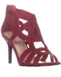 Marc Fisher Nala Strappy Sandals - Red