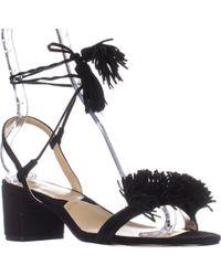 e651afa714aba Adrienne Vittadini - Alen Lace-up Dress Heeled Sandals - Lyst