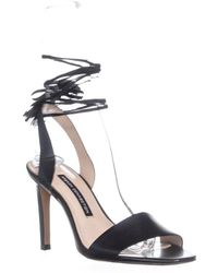 French Connection Ankle Strap Sandals - Black