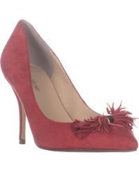 Ivanka Trump Dirent Classic Pointed Toe Court Shoes - Red