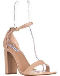fafb5a8fed5 Lyst - Steve Madden Addon Open Toe Chunky Heel Dress Sandals