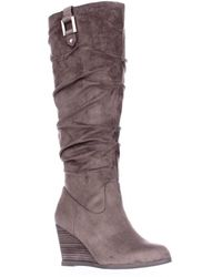 Dr. Scholls - Poe Wedge Slouch Boots - Lyst