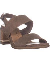Dr. Scholls Sure Thing Block Heel Sandals - Brown