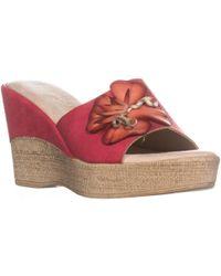 Easy Street Castello Slip On Mule Sandals - Red