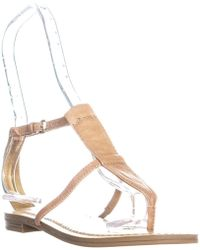 8fbb45460 Lyst - Nine West Wizzelly Thong Strap Flat Sandals in White
