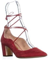 Rupert Sanderson Poet Lace Up Pumps - Red