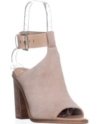 Marc Fisher Vashi Peep-toe Sandals - Natural