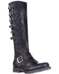 Frye - Veronica Belted Tall Multi Buckle Strap Boots - Lyst