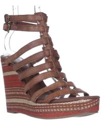 Lucky Brand - Labelle Wedge Sandals - Lyst