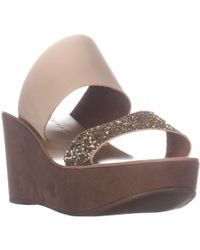 Chinese Laundry Orchid Wedge Slide Sandals - Metallic