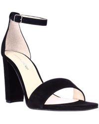 Ivanka Trump Emalyn Ankle Strap Dress Sandals - Black