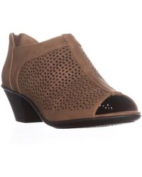 Easy Street - Steff Perforated Peep Toe Ankle Boots - Lyst