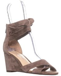 Jessica Simpson - Cyrena Ankle Strap Wedge Sandals - Lyst