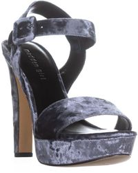 Madden Girl Rollo Heeled Sandals - Gray