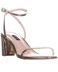 Nine West - Provein Ankle Strap Block Heel Sandals - Lyst