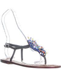 Sam Edelman - Gabrielle Seashell Flat Sandals - Lyst