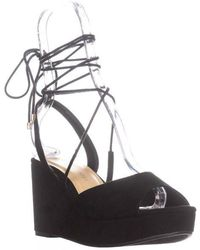 Chinese Laundry - Cindy Platform Lace Up Sandals - Lyst