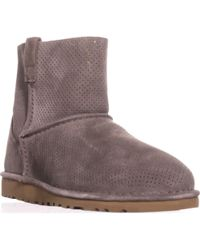 UGG - Classic Unlined Mini Perforated Boots - Lyst
