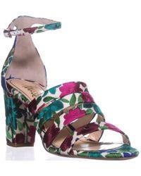Jerome C. Rousseau Abelline Block Heel Sandals
