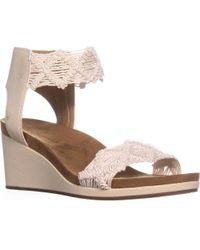 Lucky Brand - Kierlo Ankle Strap Wedge Sandals - Lyst