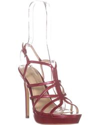 Marc Fisher Jaslyn Strappy Sandals - Red